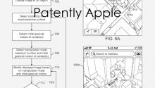 苹果3D地图多点触控手势识别专利曝光