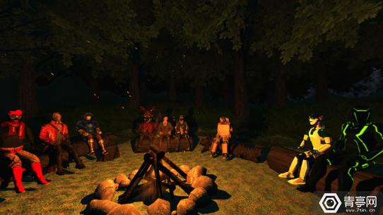 vrchat-campfire