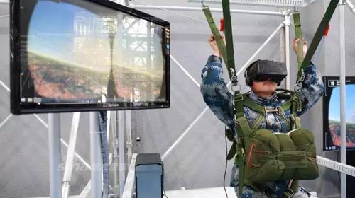 解放军空降兵训练VR跳伞1