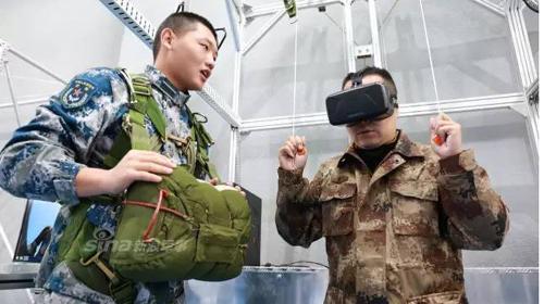 解放军空降兵训练VR跳伞3