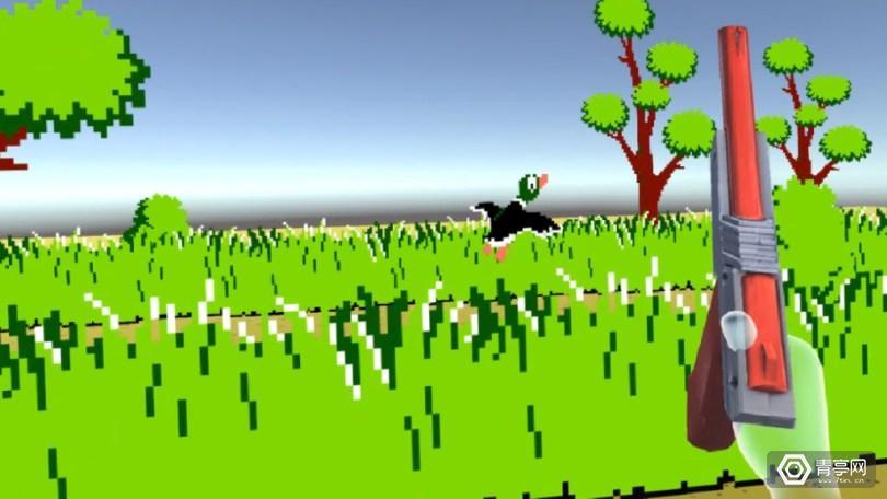 小时候人人都玩过的光枪游戏《打鸭子》也VR化了,还能扔手雷?