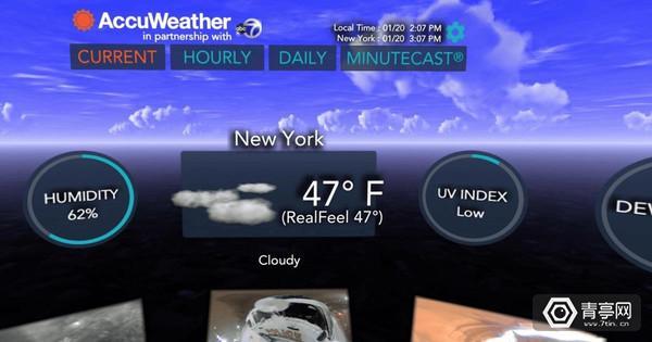 传统天气预报都OUT了!这款VR天气应用颠覆你的想象