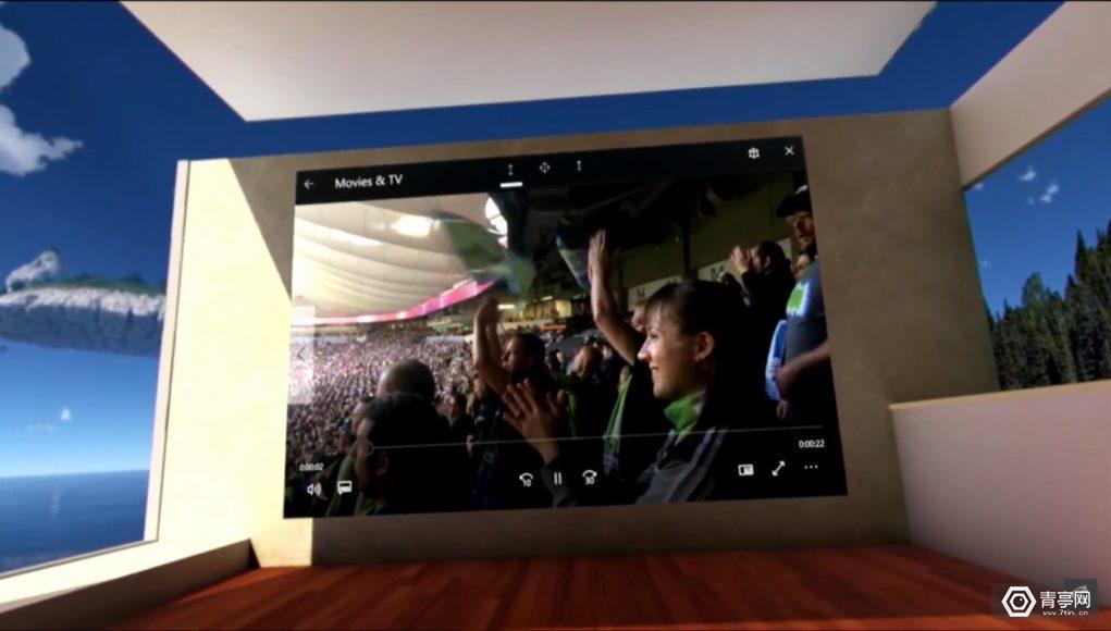 微软演示VR版Windows,你整个客厅变成电脑桌面的日子不远了?