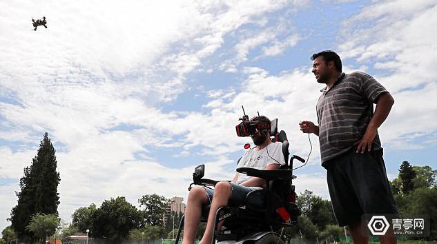 瘫痪者用VR头盔控制无人机飞行,时速达150公里