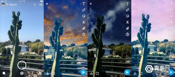 snapchat_sky_filter