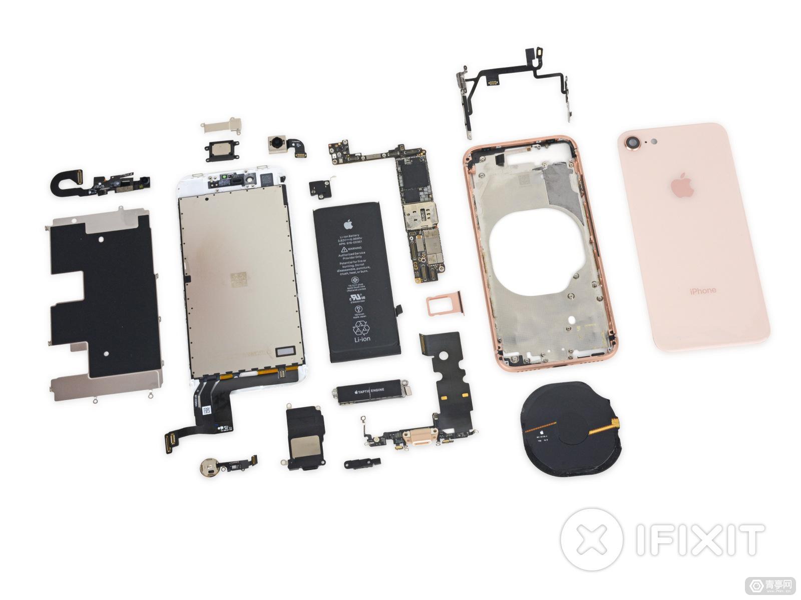 我们把iPhone8扒光了!史上最全,最凶,最多图iPhone8拆解