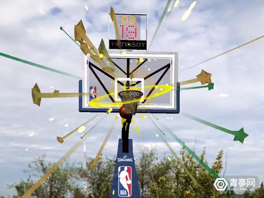 NBA应用增加AR功能,街头就能玩投篮游戏