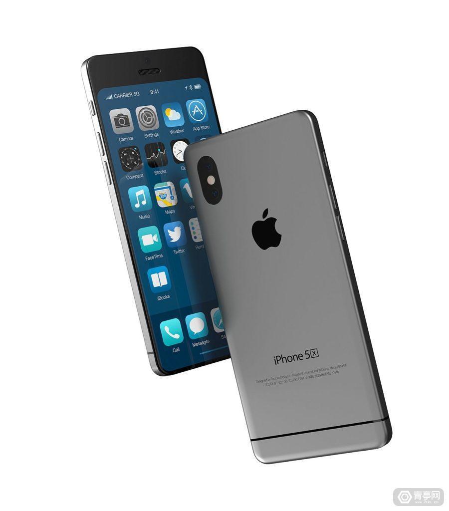 概念新机iPhone 5X:5.8英寸全面屏+AR双摄