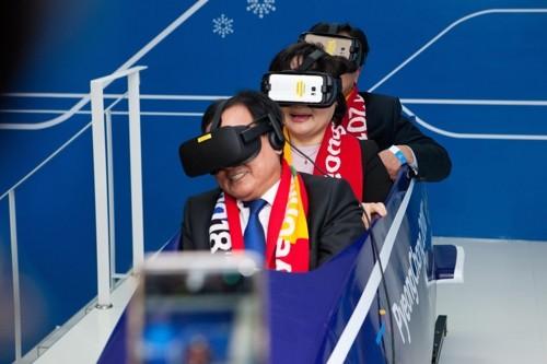 """平昌冬奥会ICT体验馆开放,VR雪橇被韩科技部长赞""""镇馆之宝"""""""