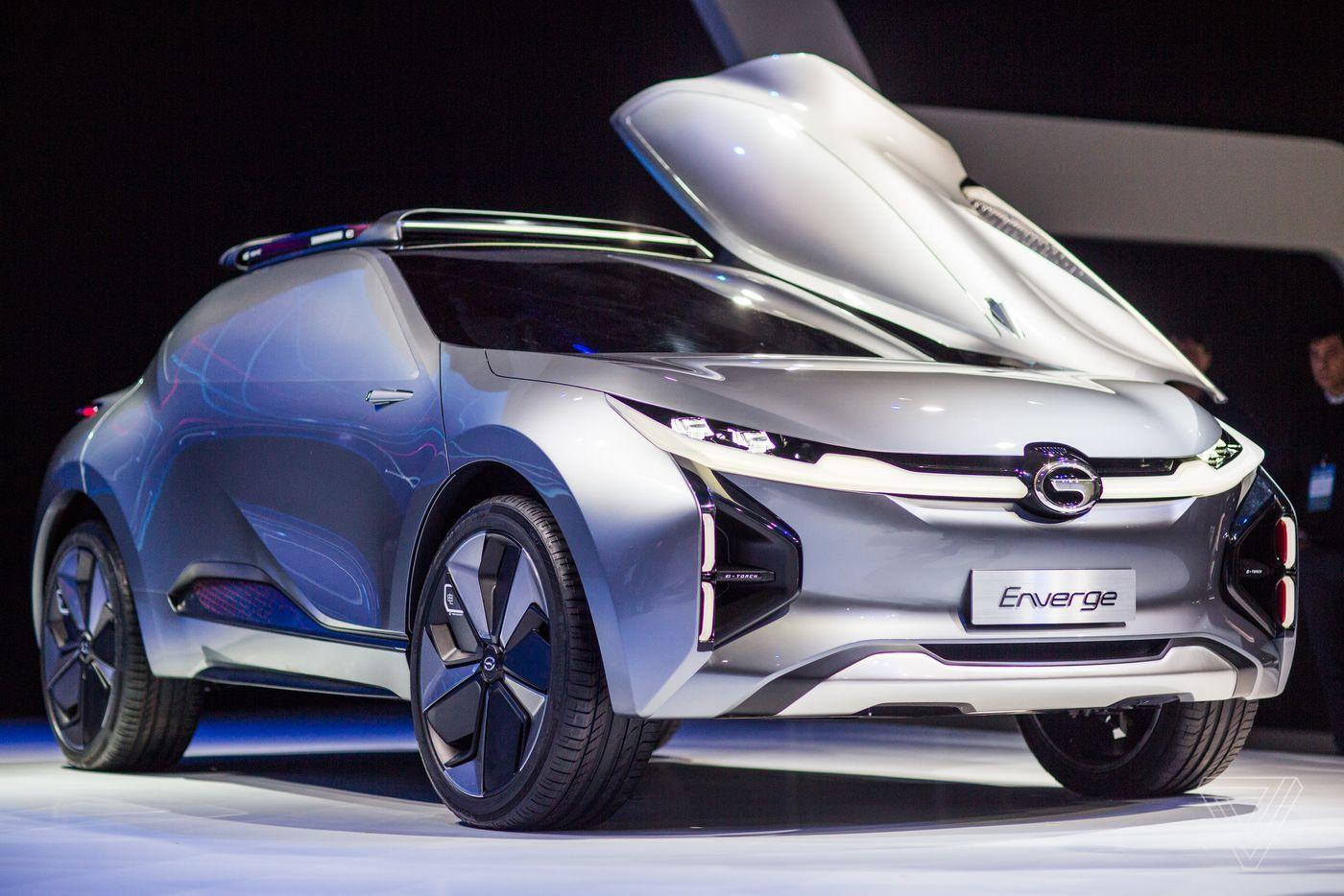 广汽传祺展示电动概念车,车窗带嵌入式VR屏幕