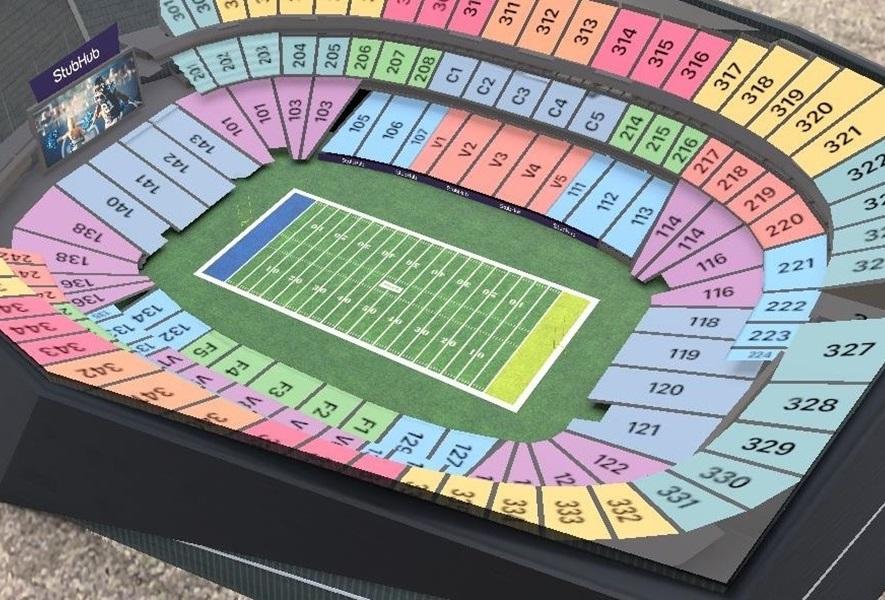 StubHub运用AR技术,为超级碗赛场提供座位导航