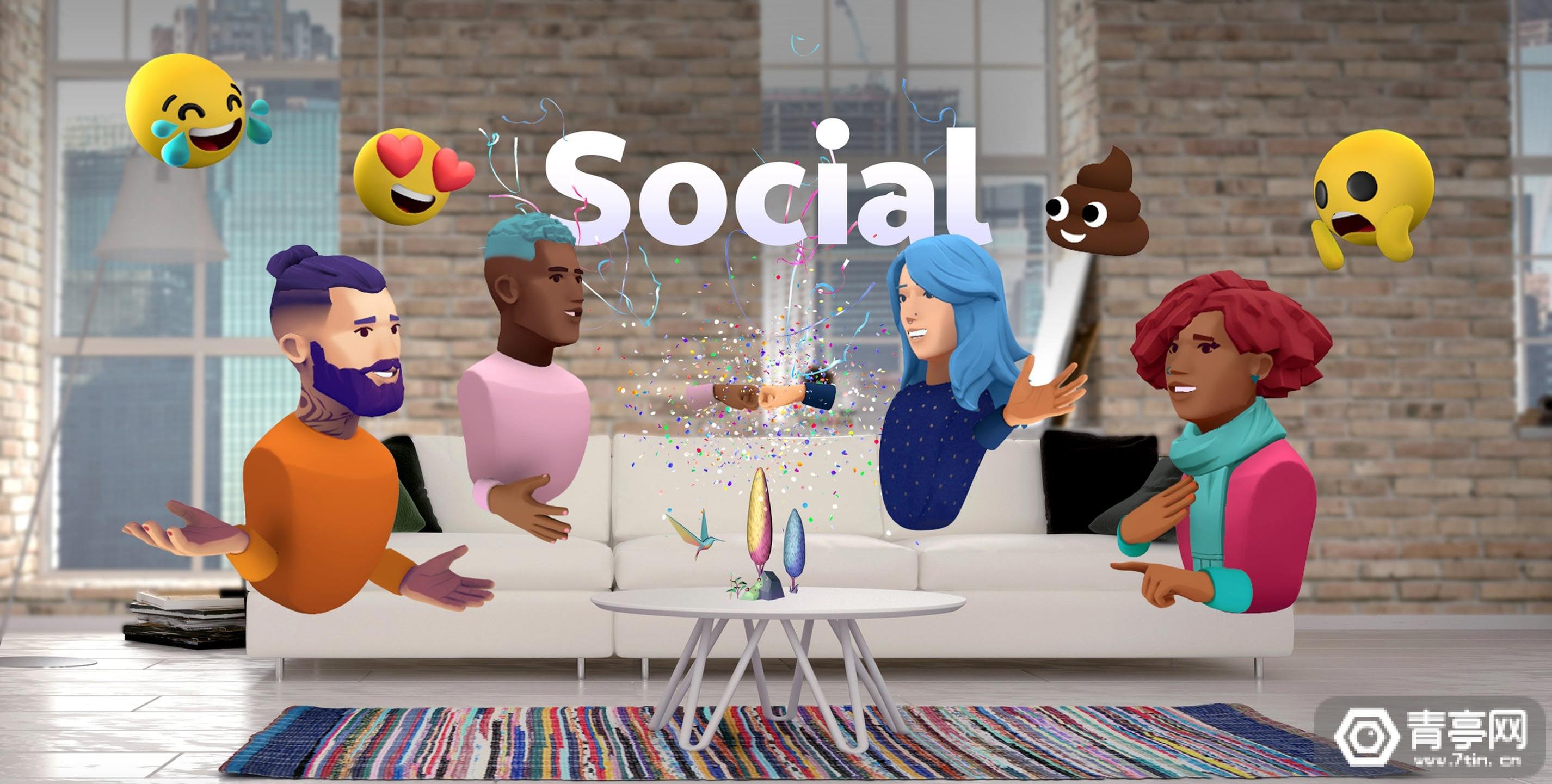 AR社交《Avatar Chat》体验:能模拟眨眼和表情,和VR大同小异?