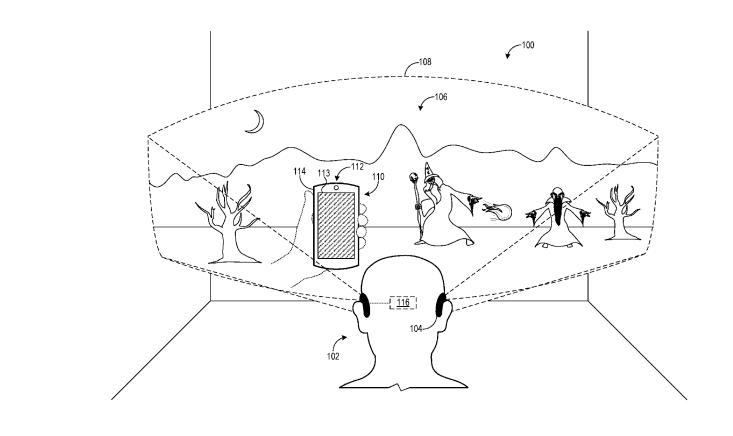 微软新MR专利:通过触屏手机与MR头显交互
