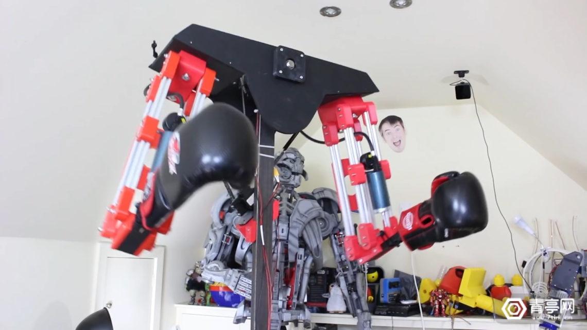 模拟逼真格斗场景,用于VR的拳击机械臂了解一下