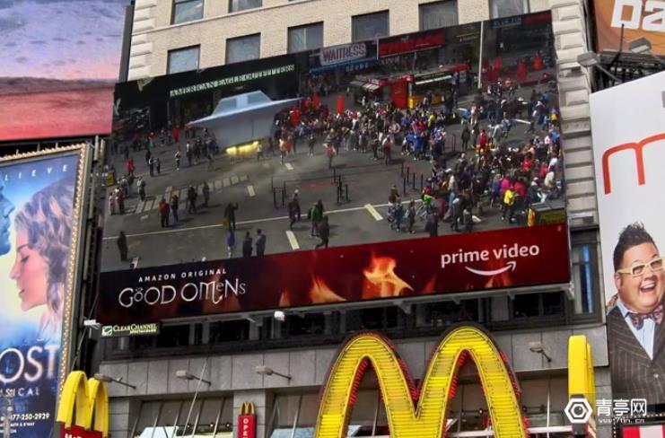 为了推广新剧,亚马逊在时代广场大屏幕做AR广告