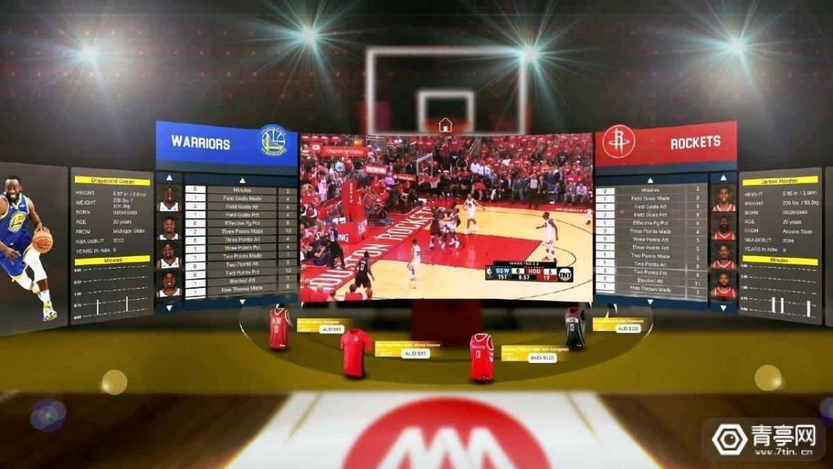 2D界面+实时比分显示,澳洲Unbnd将推出NBA VR直播