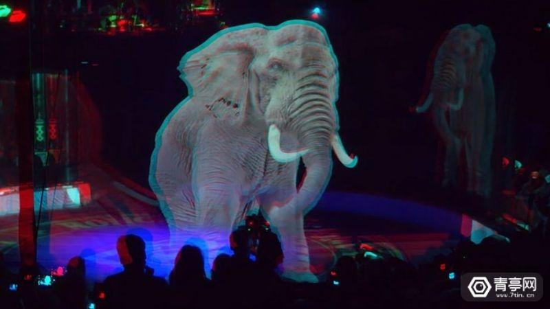 隆卡利马戏团(Circus Roncalli)全息投影