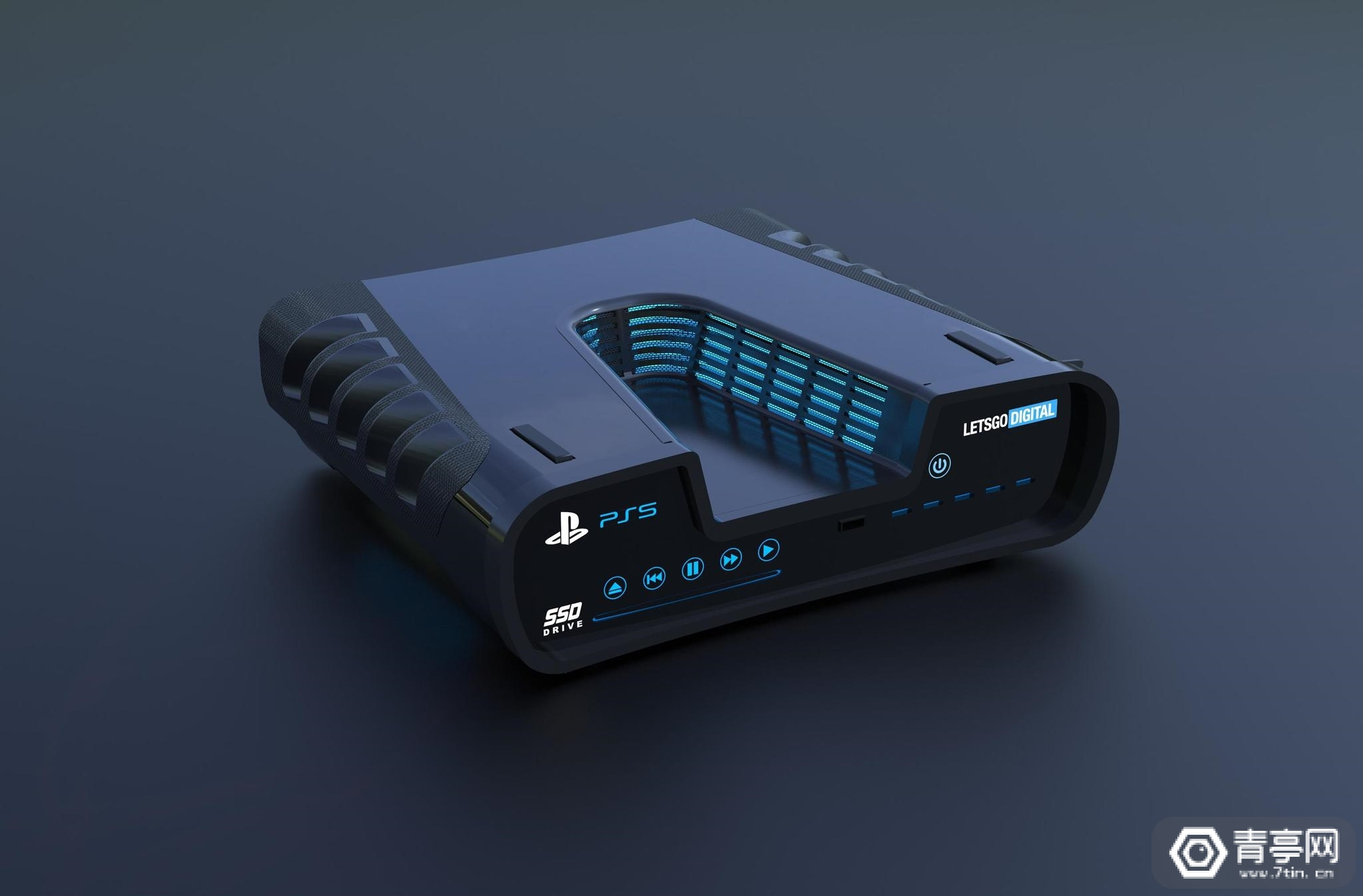 索尼PS5真机曝光:深V造型非常抢眼