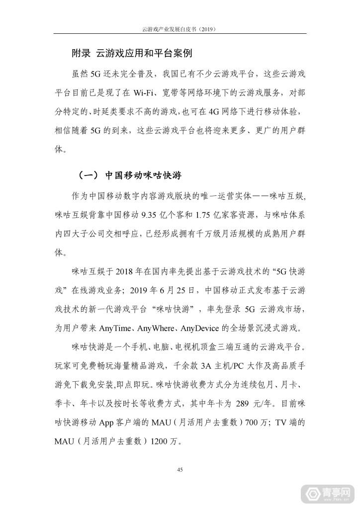 信通院发布《云游戏产业发展白皮书(2019年)》 (50)