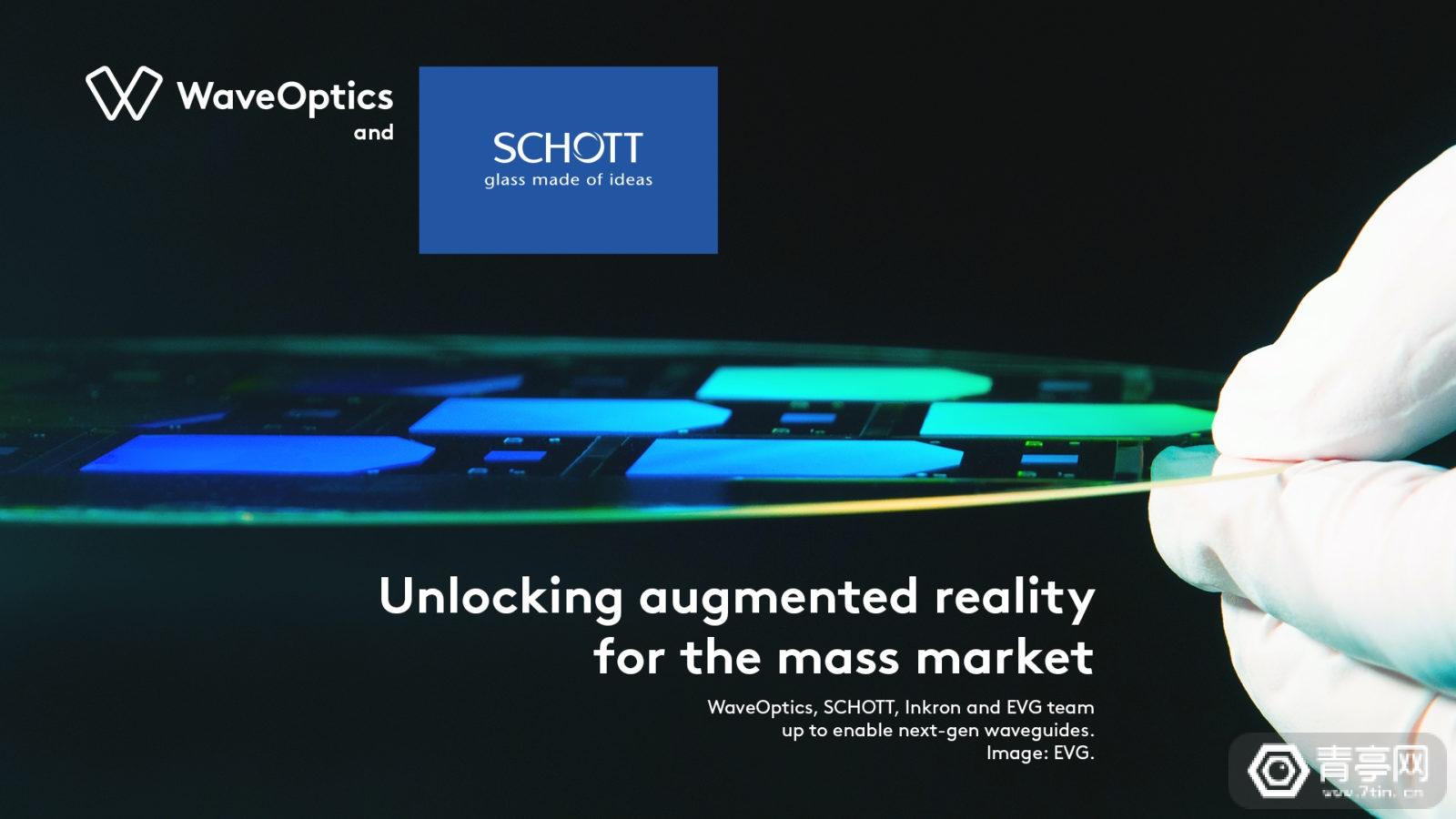 肖特与WaveOptics、EGV、Inkron合作,量产树脂光波导模组