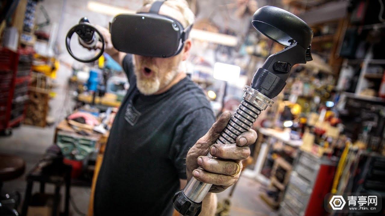玩VR游戏顺便健身,硬核玩家自制Beat Saber光剑手柄