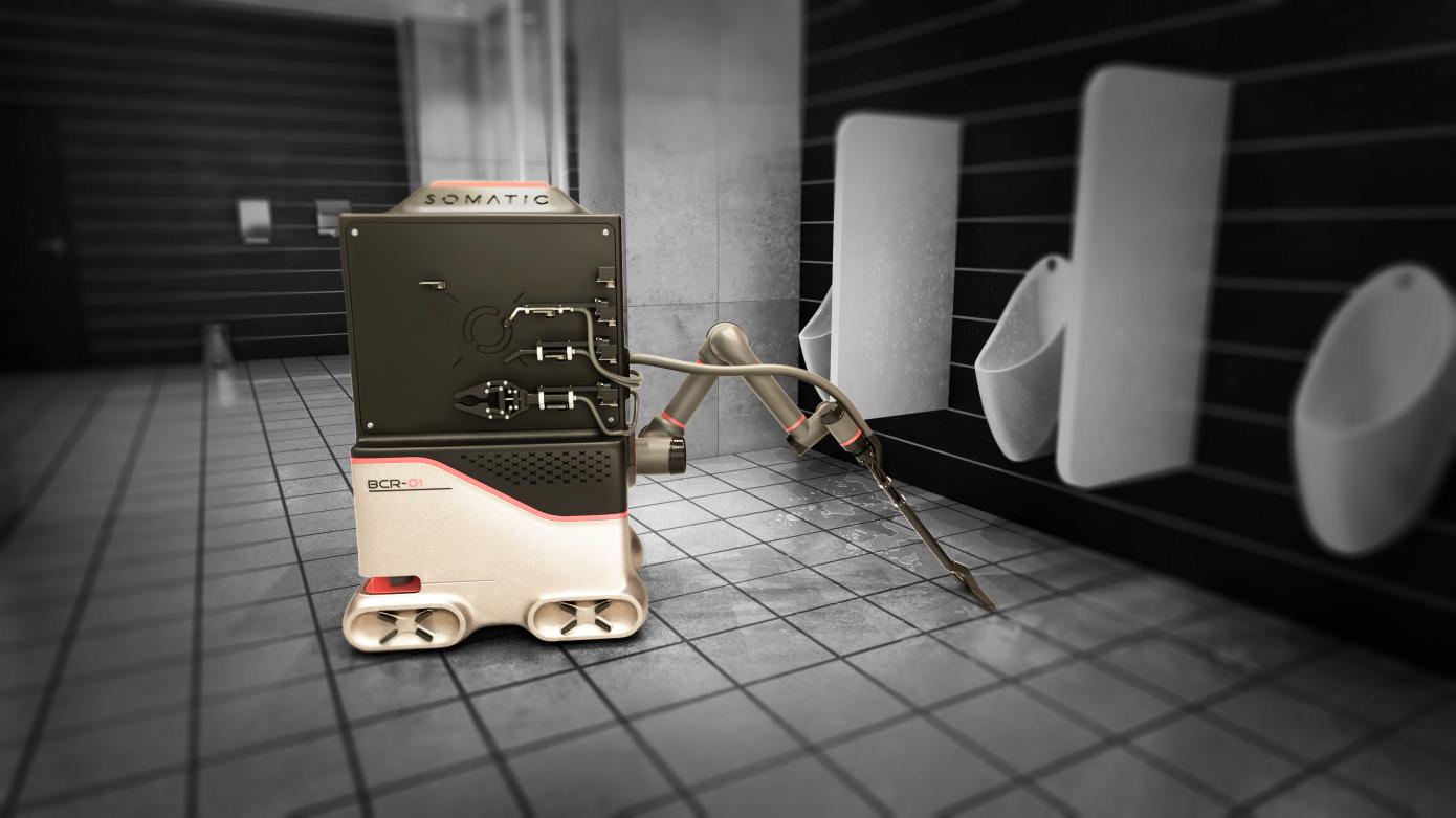 Somatic借助VR训练卫生间清洁机器人