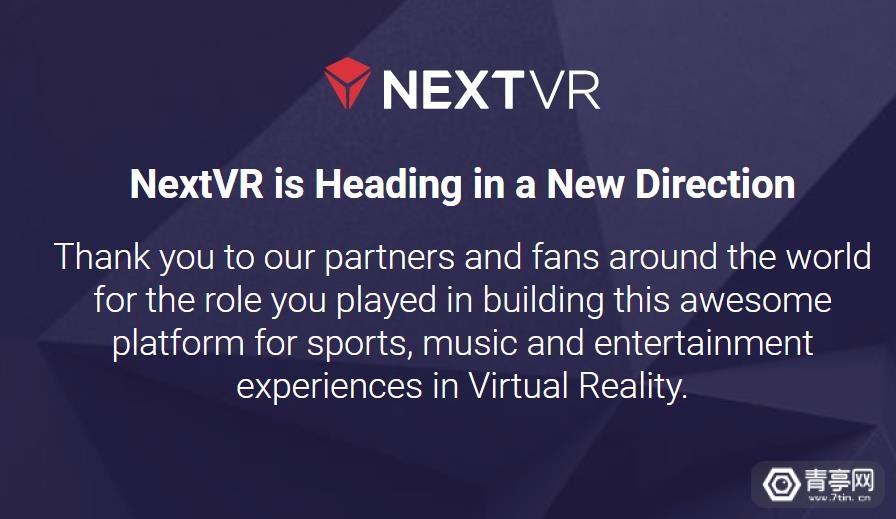 苹果确认收购VR直播公司NextVR,交易估值1亿美元