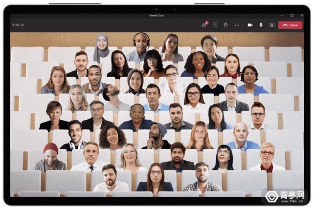 微软Teams发布多项新功能,AI技术加持随意更换开会场景