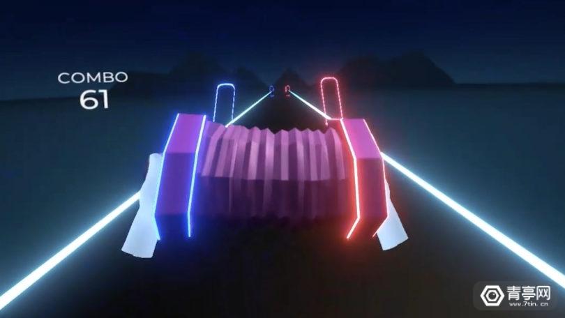 """结合手势追踪玩法,开发者展示手风琴版""""Beat Saber""""游戏"""