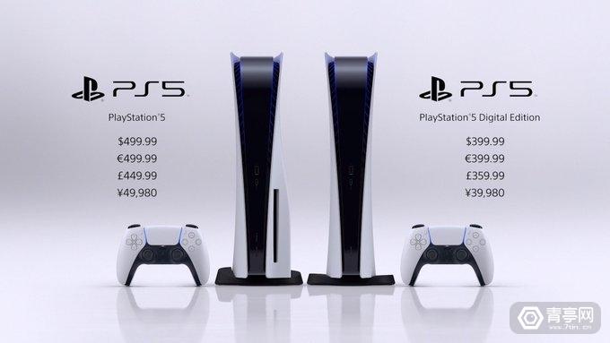索尼PS5正式发布:光驱版499美元,数字版399美元