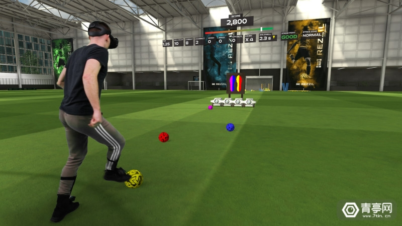 免费VR足球训练应用《Rezzil Player 21》