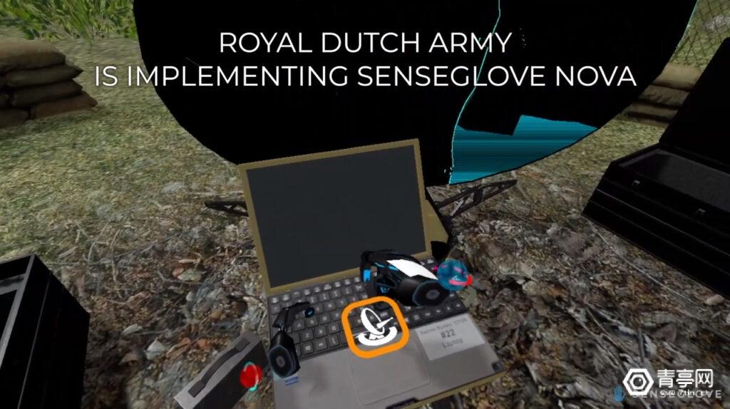 荷兰皇家陆军用VR头显和体感手套培训士兵组装卫星接收器