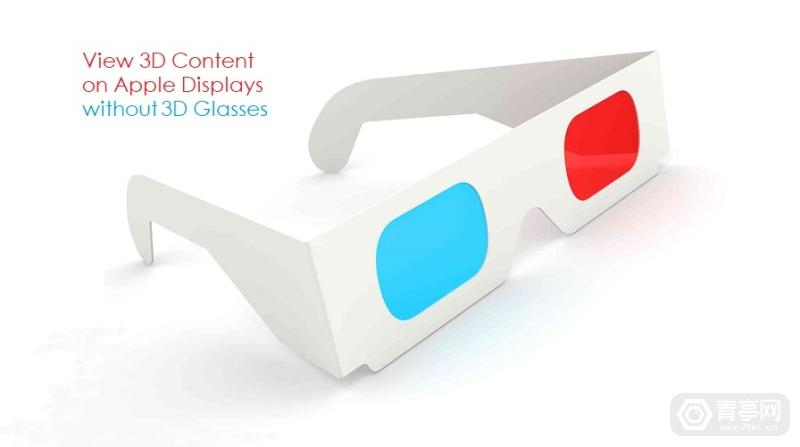 Illustration of white 3D Glasses