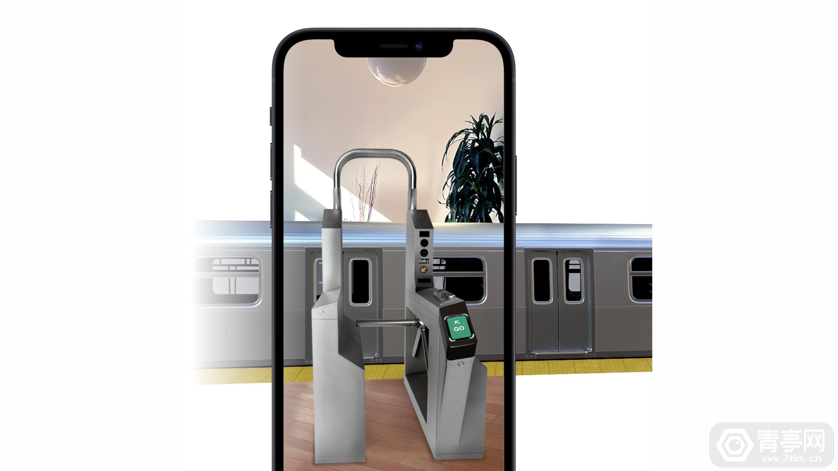苹果用Snapchat AR演示Apple Pay快捷公交卡功能