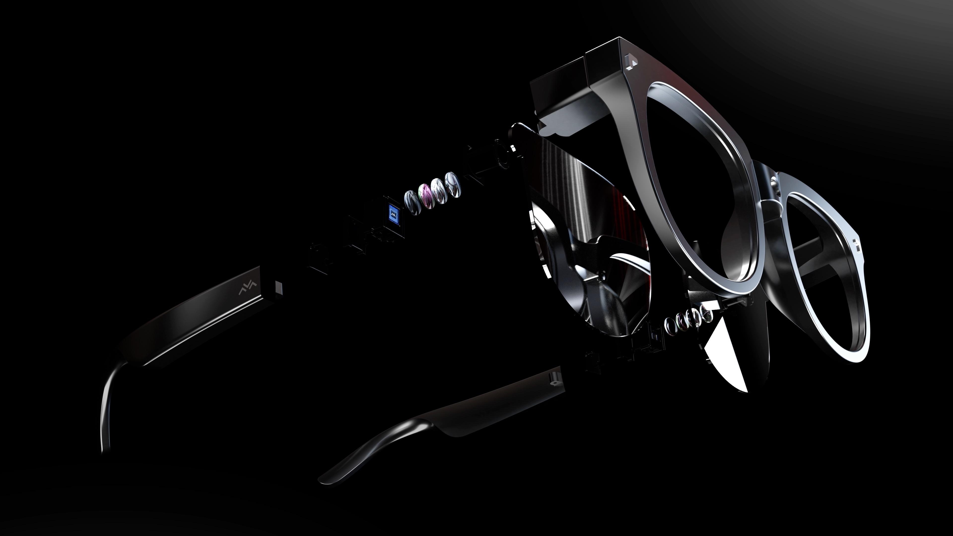 AR时代奇点临近,业内首款双目全彩MicroLED全息光波导AR眼镜发布
